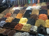 A tasty-looking dried fruit stall